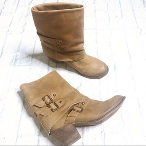 Mia Limited Edition Leather buckle Booties